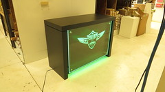 Custom Display with LED Lighting (Green)
