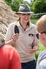 Engaging the public at Old Sarum with some hands on lithics time. Photo Martin Reed