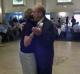 Mom and Grandpa, dancing