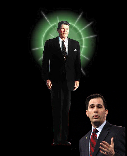 Scott Walker Worships Ronald Reagan