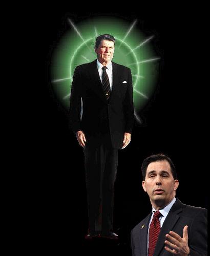 Scott Walker Worships Ronald Reagan