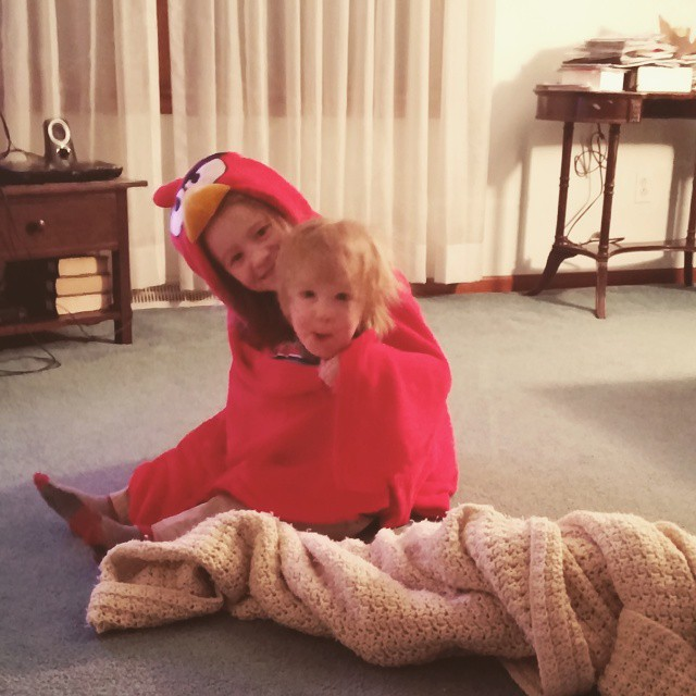 #kids in a blanket