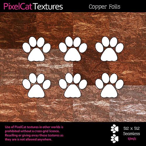 PixelCat Textures - Copper Foils