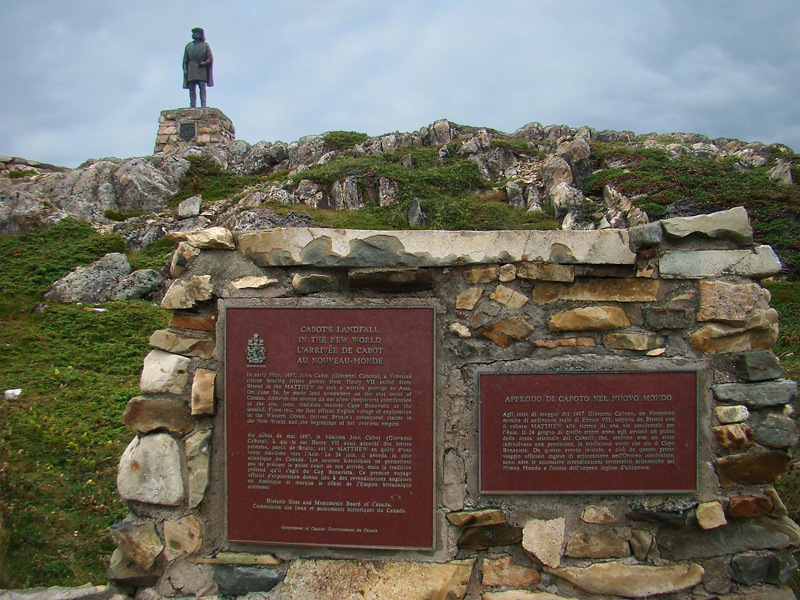 Monument to John Cabot's Landfall in the New World in Newfoundland, Canada