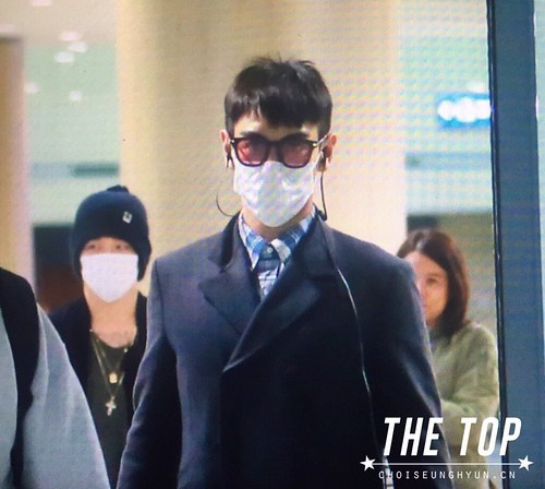 Big Bang - Incheon Airport - 03dec2015 - The TOP - 01