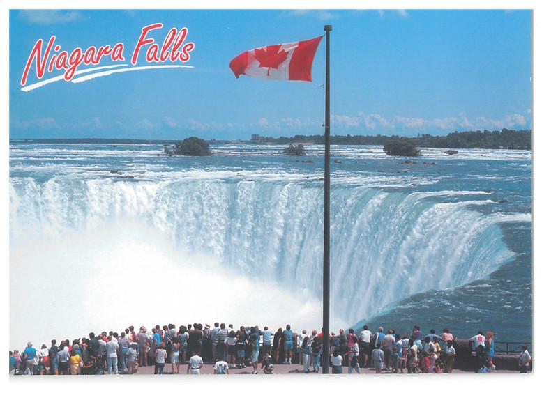 Canada - Niagara Falls 52 - Flag on Table Rock