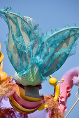 Ariel's fin in Mickey's Soundsational Parade in Disneyland
