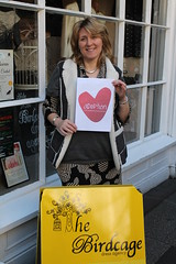 Sharon from the Birdcage Dress Agency on Bath Place, Taunton