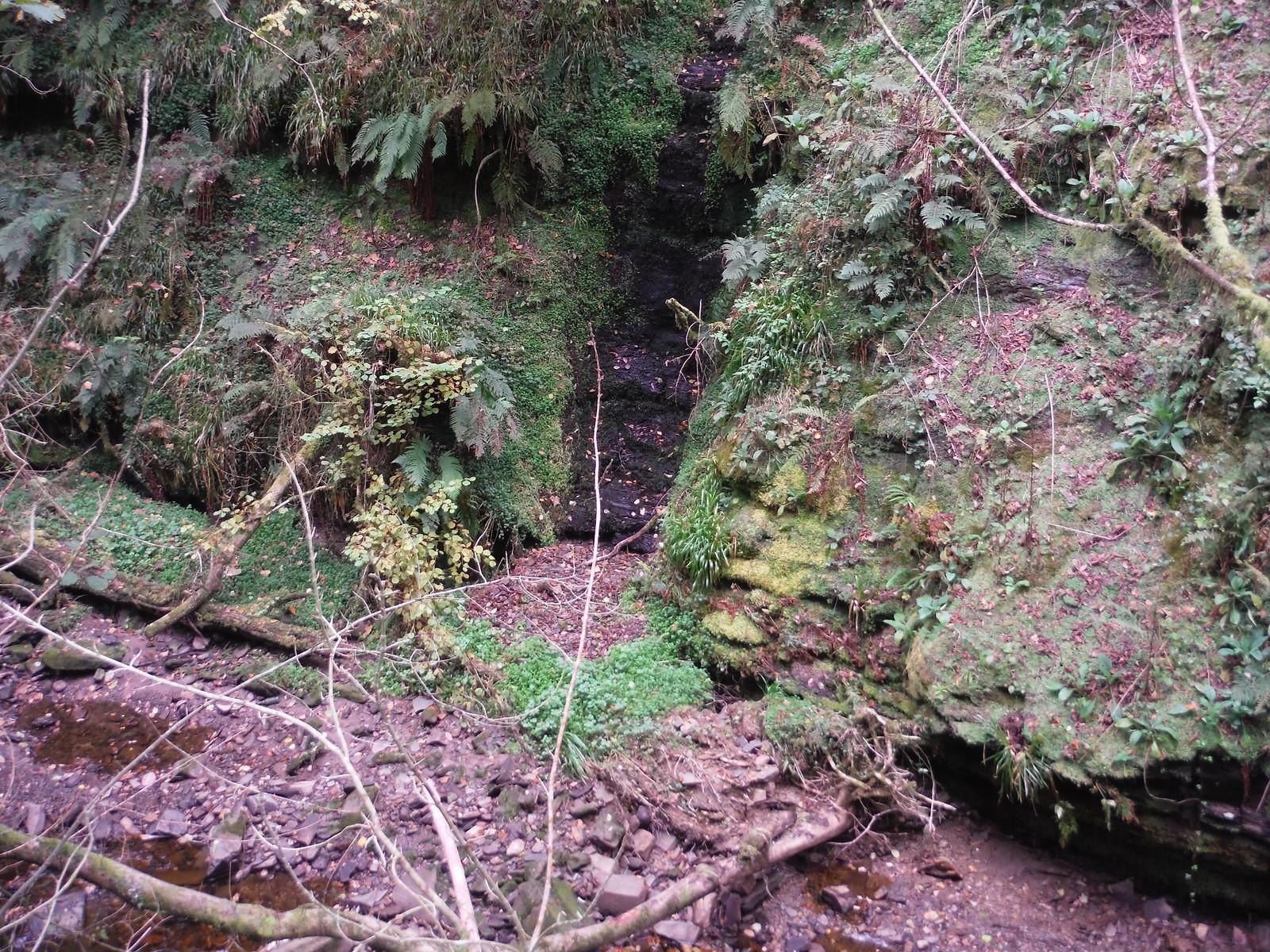 Landslip on opposite side of Nant Llech SWC Walk 280 Henrhyd Falls - Sgwd Henrhyd (Craig y Nos Circular)