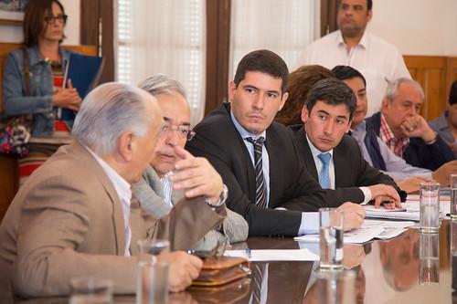 Diputados con el Ministro de Seguridad Carlos Oliver