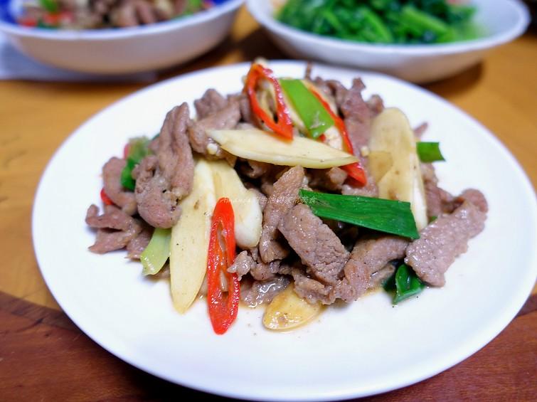 快炒,茭白筍,豬肉片 @Amanda生活美食料理
