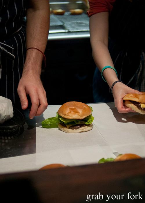 Mary's Burger and cheeseburger at Mary's, Newtown