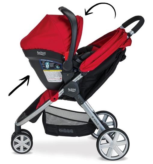 primera silla de carro para bebés Britax B-Safe35