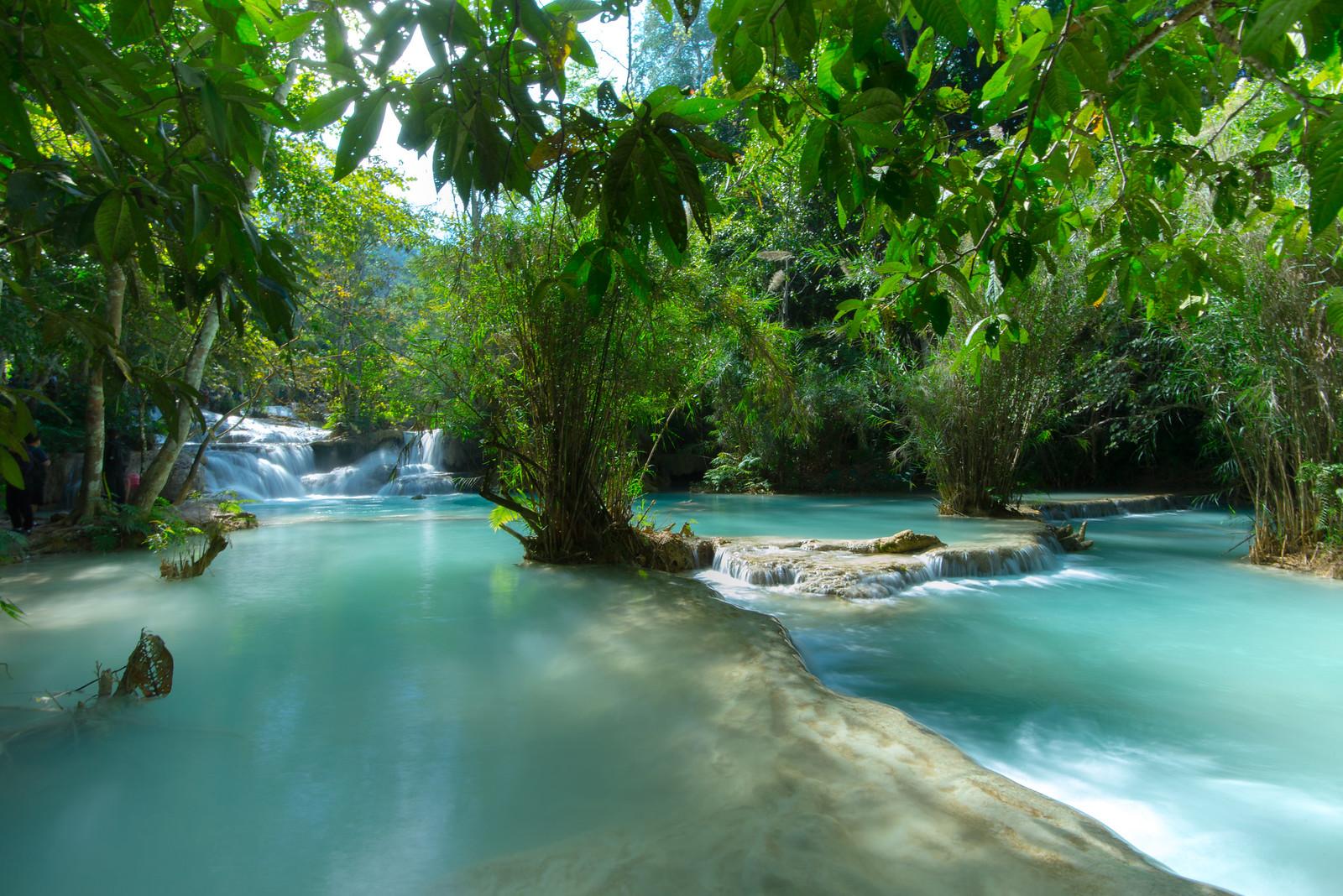 Kuang Si Falls, Laos [1600x1068]