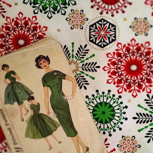 Christmas dress and fabric 2015