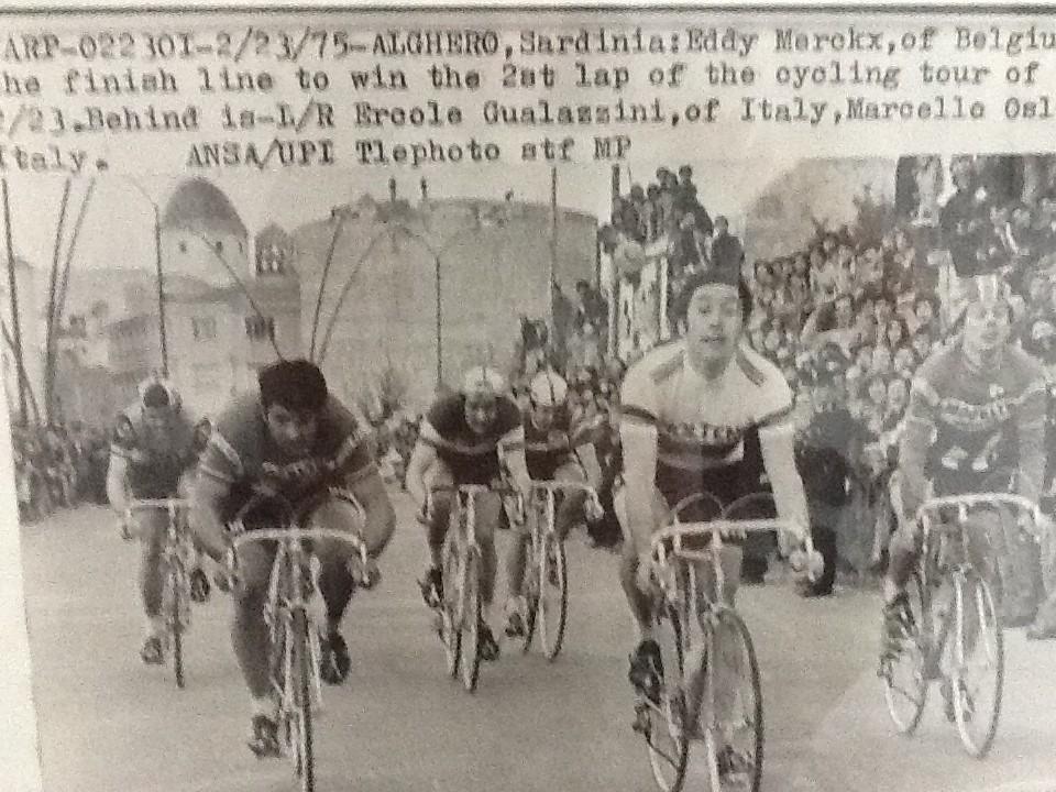 Marcello piazzato nella seconda tappa del Giro di Sardegna vinta da Merckx
