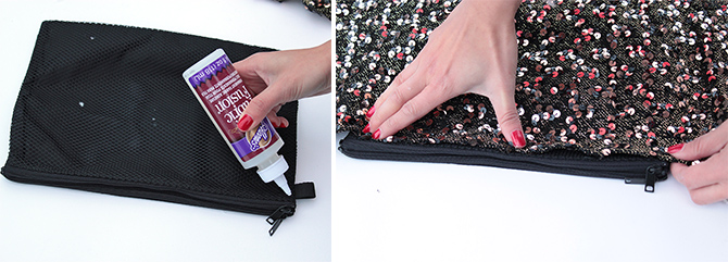 DIY sequin clutch 1