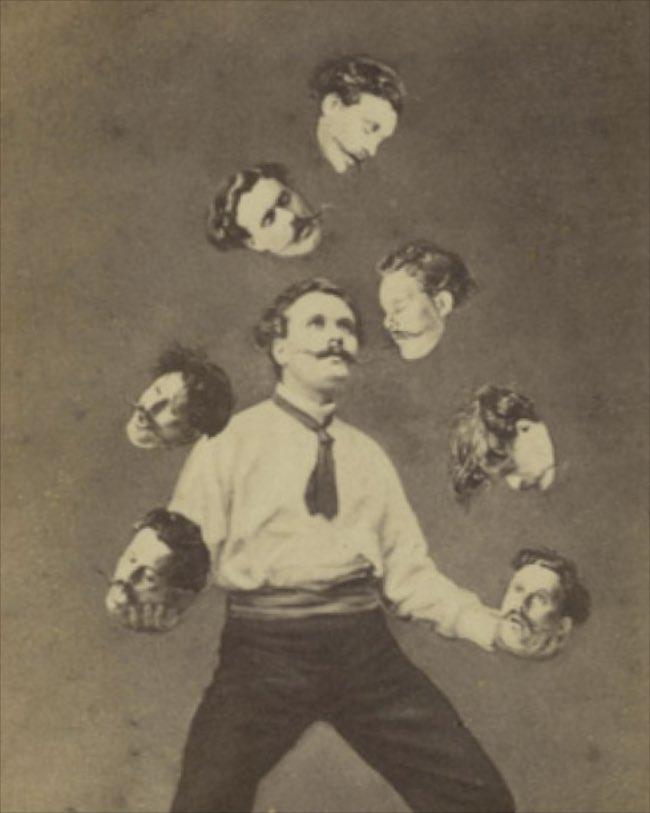 Unidentified French artist Published by Allain de Torbéchet et Cie. Man Juggling His Own Head ca. 1880