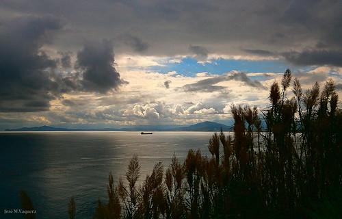nubes atardeceres playas ceuta