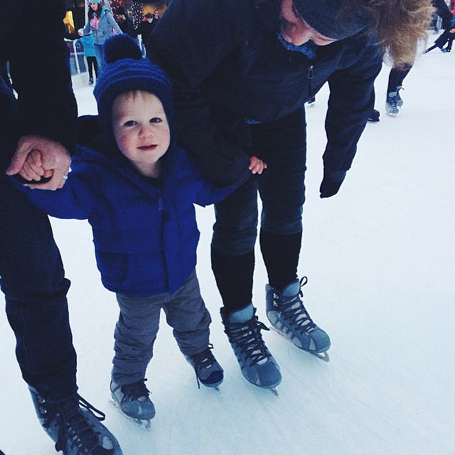 He's a natural on the ice, unlike his mother. #dailyjohn