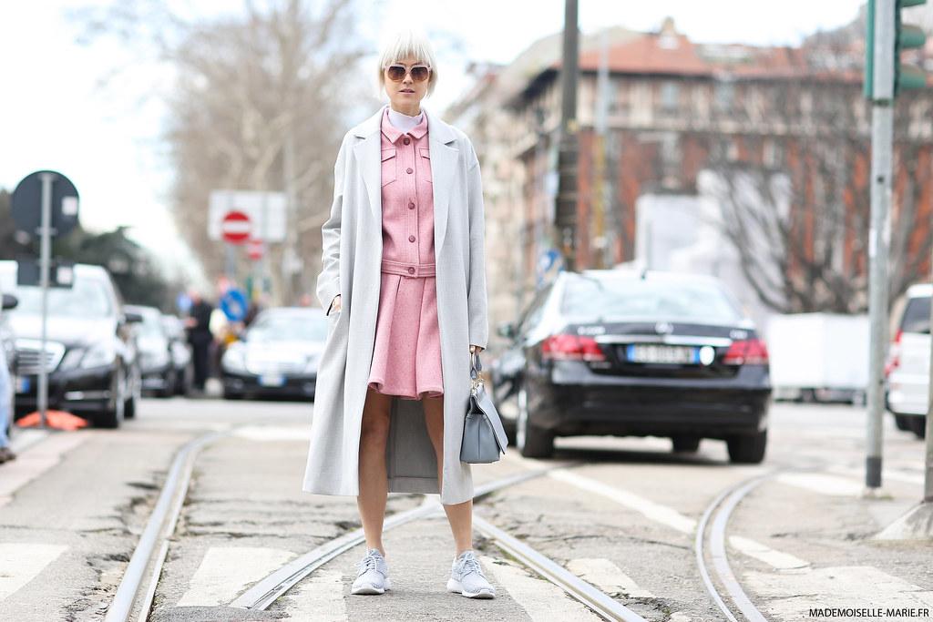 Linda Tol at Milan Fashion Week