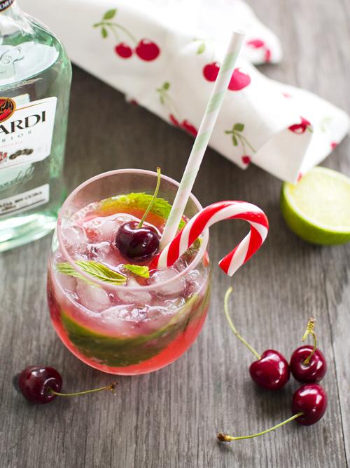 cherry candy cane mojito