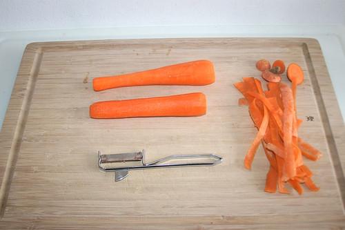 11 - Möhren schälen / Peel carrots