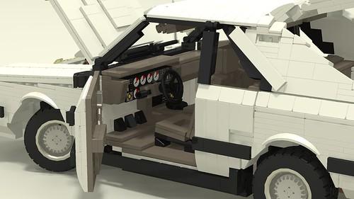 1985 Mustang SVO interior left