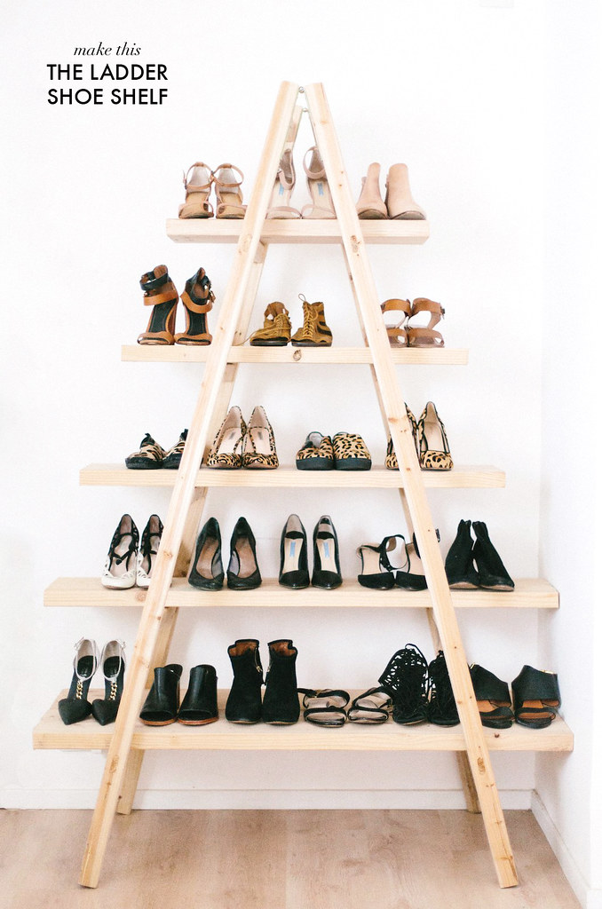 diy update the ladder shoe shelf a pair a spare
