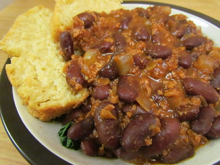 Quick and Hearty Chili; Sweet Cornbread