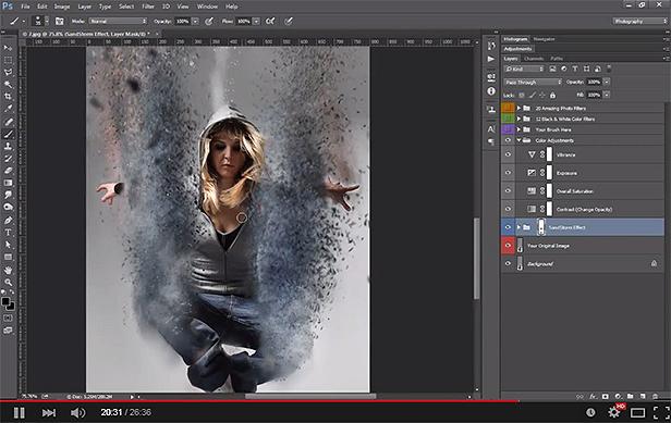 Sandstorm photoshop action crack download