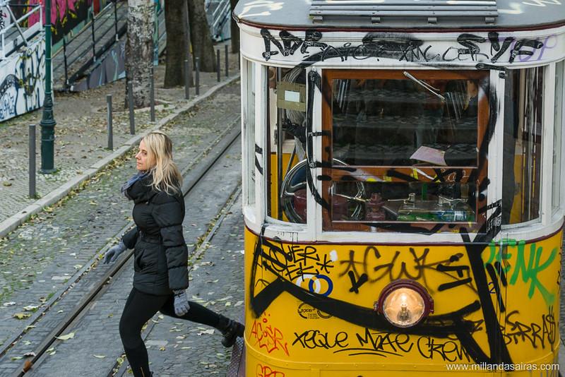 Tranvía que comunica la Avenida da Liberdade con el Bairro Alto