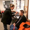 #YouofA Museum Collections Registrar Mary Sueter getting her make-up done for an video interview for an upcoming Old State House exhibit on the collections.