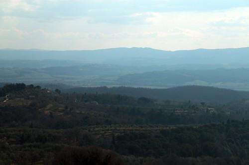 Città della Pieve: panorama da via garibaldi