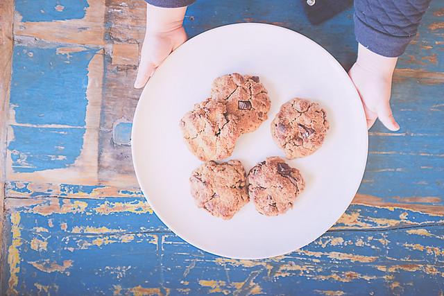 Cookies beurre de cacahuètes pépites de chocolat par morganours