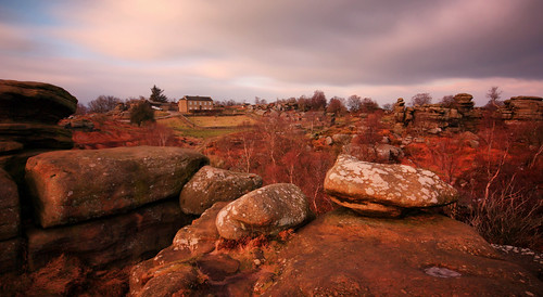 uk travel trees winter light england sky house cold english rock clouds canon landscape evening countryside nationalpark movement scenery rocks long exposure view britain dusk yorkshire united great scenic sigma kingdom erosion formation national trust british february nationaltrust brimham dales formations brimhamrocks 450d yorkshiredalesnationalpark