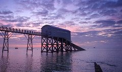 Sunrise over Selsey Lifeboat station