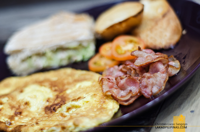 Bacon Breakfast at Junction Hostels in Makati City