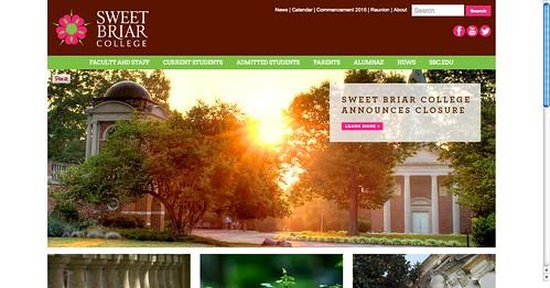 Sweet Briar (2015 college closure webpage archive)