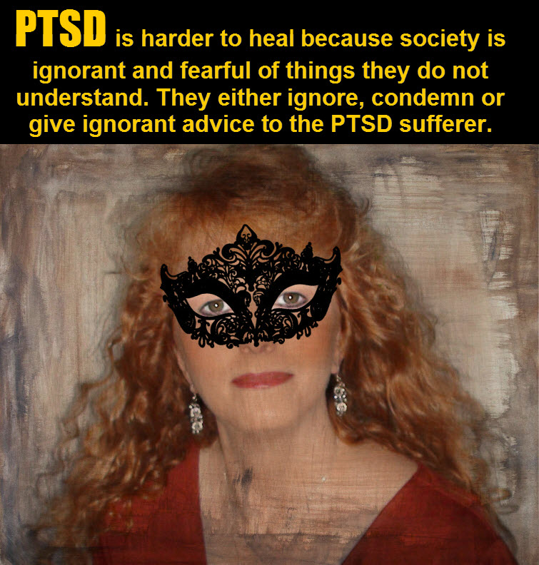 masked redhead Wearing A Mask In The Midst Of PTSD Ignorance 4