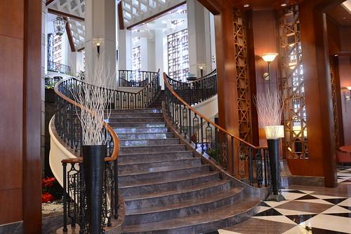 シェラトンインペリアル・クアラルンプールのゴージャスな階段
