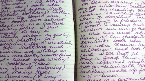 Hand written first impressions of Lynda Barry's Syllabus