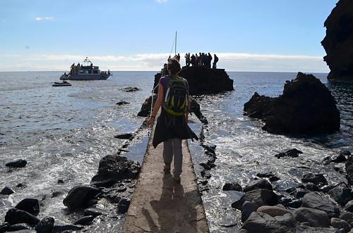 Catching the boat, Masca Barranco, Tenerife