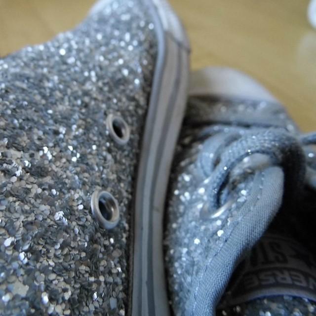 Feb Faves Silver Glitter Converse