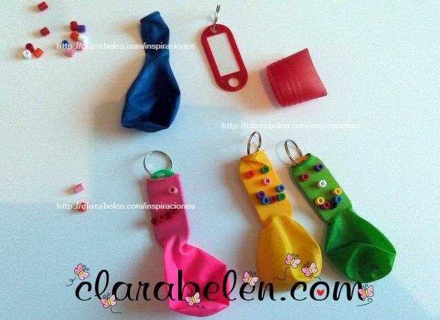 Manualidades para niños _ llavero con globos y hama para el dia del padre