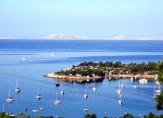 Croatian bay in the morning