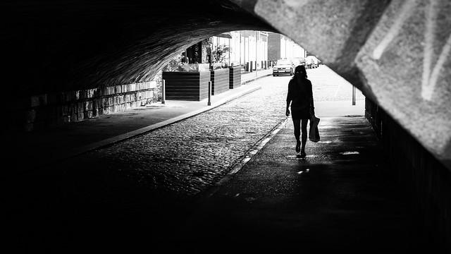 Sunday morning dublin ireland black and white street photography