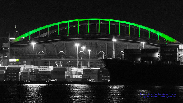 #GoHawks!  CenturyLink Field Seen From the West Seattle Water Taxi