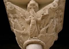 Romanesque capital, c1100 - Cloître de l'abbaye Saint-Pierre de Moissac, Tarn-et-Garonne, France