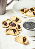 corn cookies with paste from poppy seeds and dried fruit, vegan baking